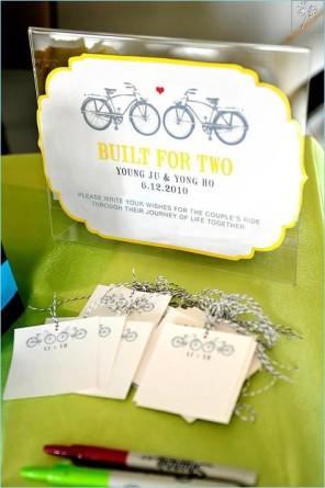 rower jako temat  przewodni ślubu i wesela 1