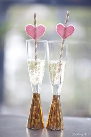 kieliszki do szampana dla pary młodej ślub i wesele