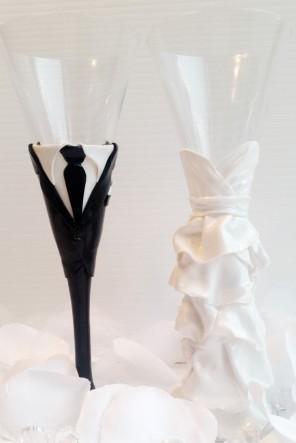 kieliszki do szampana dla pary młodej ślub i wesele2
