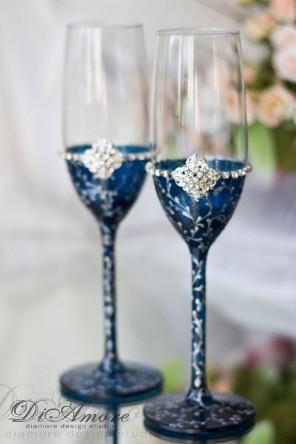 kieliszki do szampana dla pary młodej ślub i wesele5