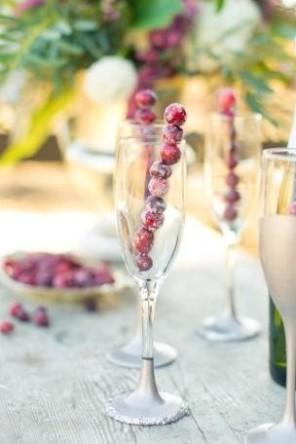 owoce w szampanie ślub i wesele