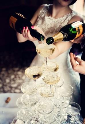 piramida z szampana ślub i wesele2