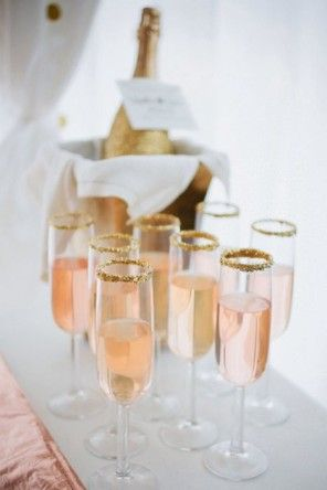 różowy szampan ślub i wesele