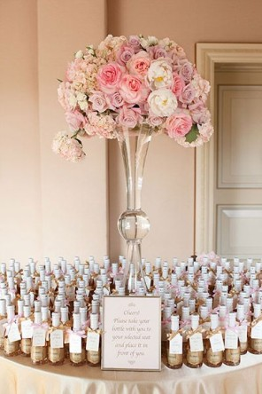 szampan jako upominek dla gości ślub i wesele