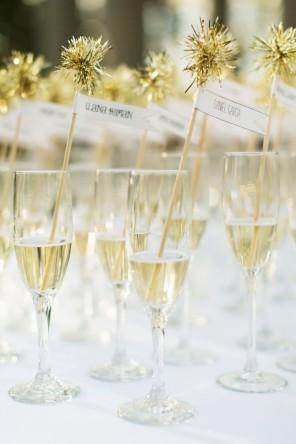 szampan jako winietki 1 ślub i wesele