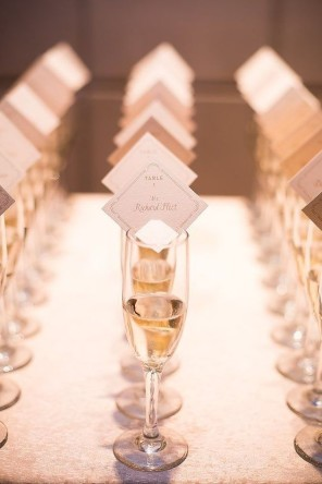 szampan jako winietki 2 ślub i wesele