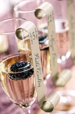 szampan jako winietki 3 ślub i wesele