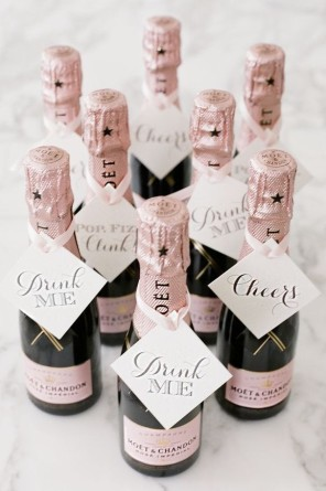 szampan upominek dla gości ślub i wesele