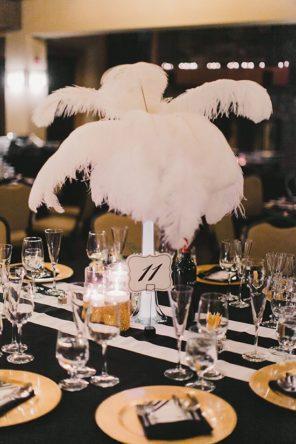 Wenecja motyw przewodni ślubu i wesela dekoracja stołu pióra