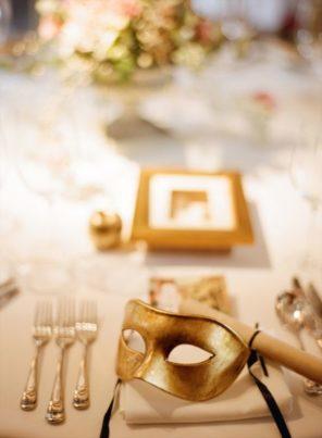 Wenecja motyw przewodni ślubu i wesela maska dekoracja stołu