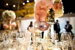 dekoracja stołu Wenecja motyw przewodni ślubu i wesela