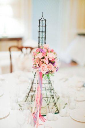dekoracja stołu Paryż motyw przewodni ślubu motyw wesela 1