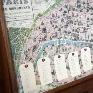 plan stołów Paryż motyw przewodni ślubu motyw wesela 1