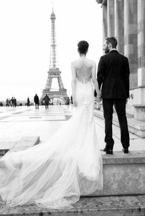 sesja ślubna Paryż motyw przewodni ślubu i wesela 1