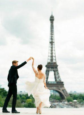 sesja ślubna wieża Eiffla