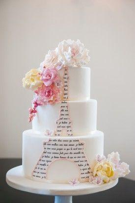 tort weselny tort ślubn Paryż wieża Eiffla 1