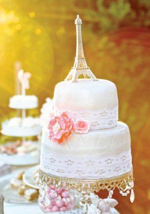 tort weselny tort ślubn Paryż wieża Eiffla 3