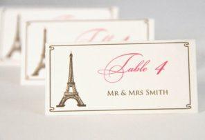 winietki Paryż motyw przewodni ślubu motyw wesela 1