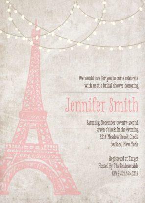 zaproszenie Paryż motyw przewodni ślubu i wesela 1