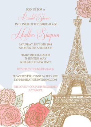zaproszenie Paryż motyw przewodni ślubu i wesela 2