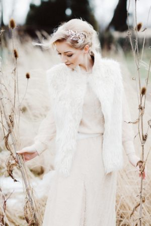 Zimowy ślub w stylu boho