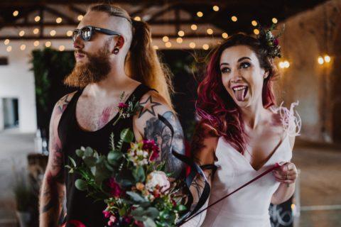wesele wstylu rockowym