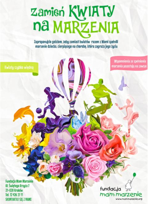 Zbiórki charytatywne zamiast kwiatów pojawiają się naweselach coraz częściej